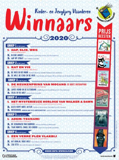 Kinder- en Jeugdjuryprijzen 2019-2020 zijn bekend